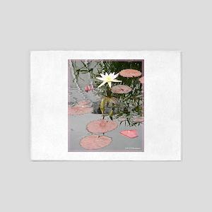 Waterlily! Beautiful photo! 5'x7'Area Rug