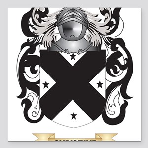 """Christine Coat of Arms Square Car Magnet 3"""" x 3"""""""