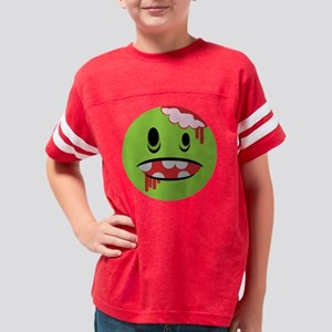 zombie face unhappy and undea Youth Football Shirt