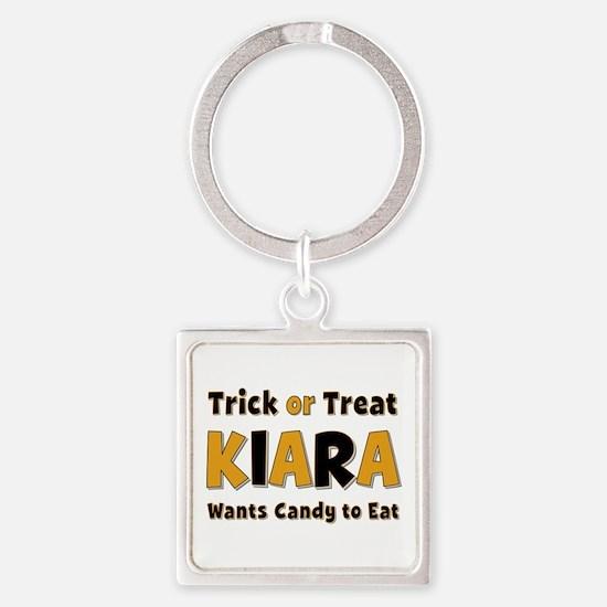 Kiara Trick or Treat Square Keychain