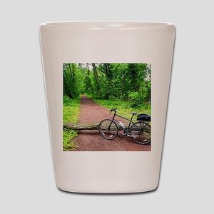 Bike Trail Shot Glass