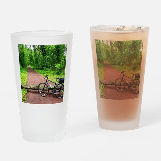 Bike Trail Drinking Glass