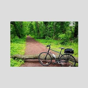 Bike Trail Rectangle Magnet