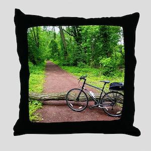 Bike Trail Throw Pillow