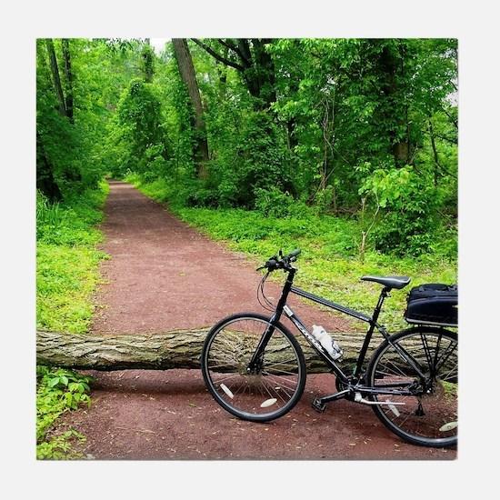 Bike Trail Tile Coaster