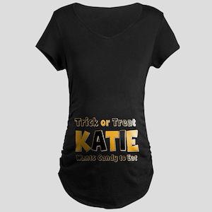 Katie Trick or Treat Maternity Dark T-Shirt