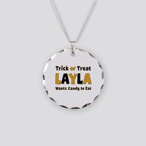Layla Trick or Treat Necklace Circle Charm