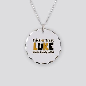 Luke Trick or Treat Necklace Circle Charm
