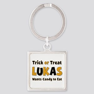 Lukas Trick or Treat Square Keychain
