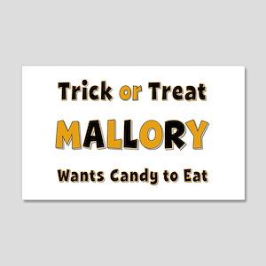 Mallory Trick or Treat 20x12 Wall Peel