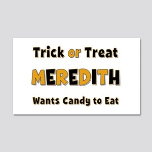 Meredith Trick or Treat 20x12 Wall Peel