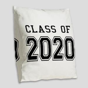 Class of 2020 Burlap Throw Pillow