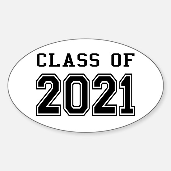 Class of 2021 Sticker (Oval)