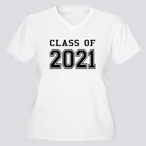 Class of 2021 Women's Plus Size V-Neck T-Shirt