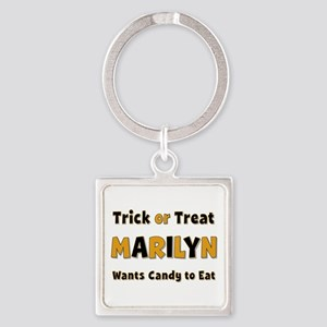 Marilyn Trick or Treat Square Keychain