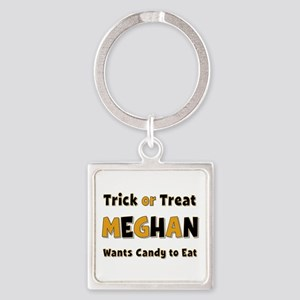 Meghan Trick or Treat Square Keychain