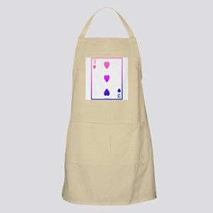 bi colored 3 of hearts BBQ Apron
