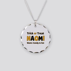 Naomi Trick or Treat Necklace Circle Charm
