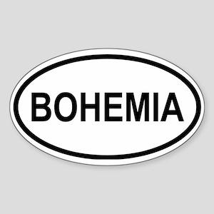 Bohemia Oval Sticker