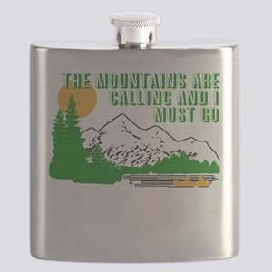 Mountains Are Calling Flask