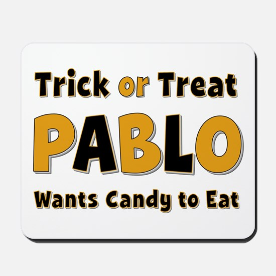 Pablo Trick or Treat Mousepad