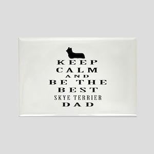 Skye Terrier Dad Designs Rectangle Magnet