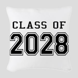 Class of 2028 Woven Throw Pillow