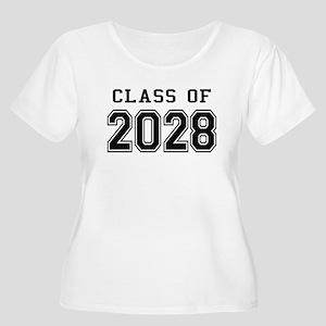 Class of 2028 Women's Plus Size Scoop Neck T-Shirt