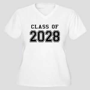 Class of 2028 Women's Plus Size V-Neck T-Shirt