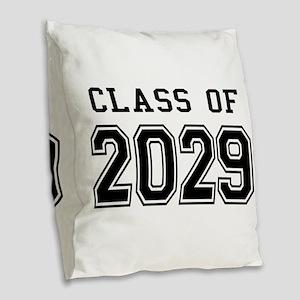 Class of 2029 Burlap Throw Pillow