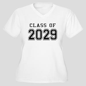 Class of 2029 Women's Plus Size V-Neck T-Shirt
