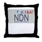 Utah NDN Pride Throw Pillow