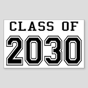 Class of 2030 Sticker (Rectangle)
