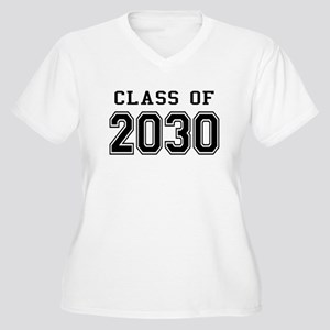 Class of 2030 Women's Plus Size V-Neck T-Shirt