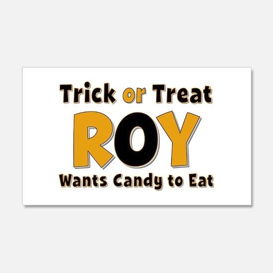 Roy Trick or Treat 20x12 Wall Peel