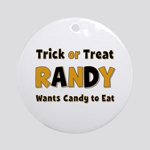 Randy Trick or Treat Round Ornament