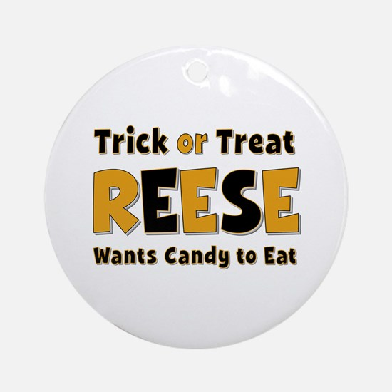 Reese Trick or Treat Round Ornament