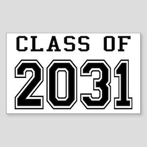 Class of 2031 Sticker (Rectangle)