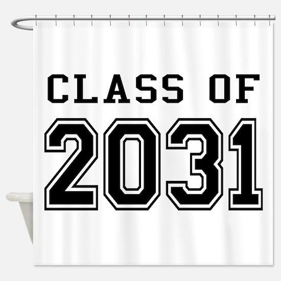 Class of 2031 Shower Curtain