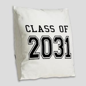 Class of 2031 Burlap Throw Pillow