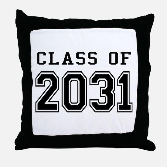 Class of 2031 Throw Pillow