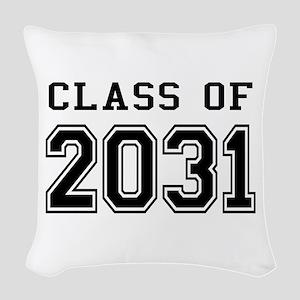 Class of 2031 Woven Throw Pillow