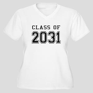 Class of 2031 Women's Plus Size V-Neck T-Shirt