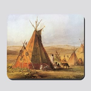 Teepees on the Plain Mousepad
