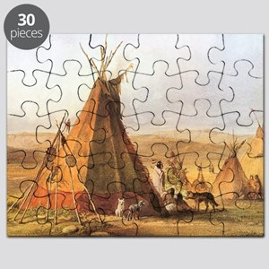 Teepees on the Plain Puzzle