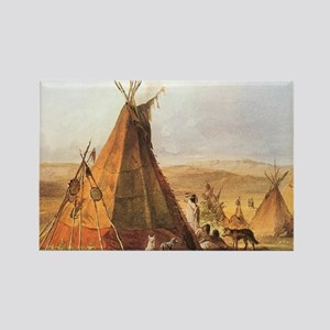 Teepees on the Plain Rectangle Magnet