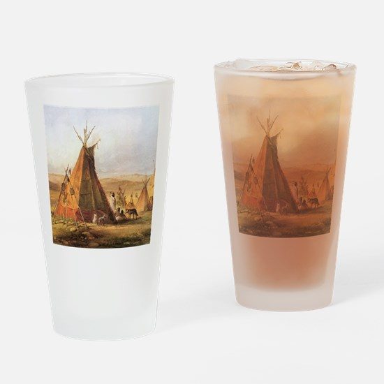 Teepees on the Plain Drinking Glass
