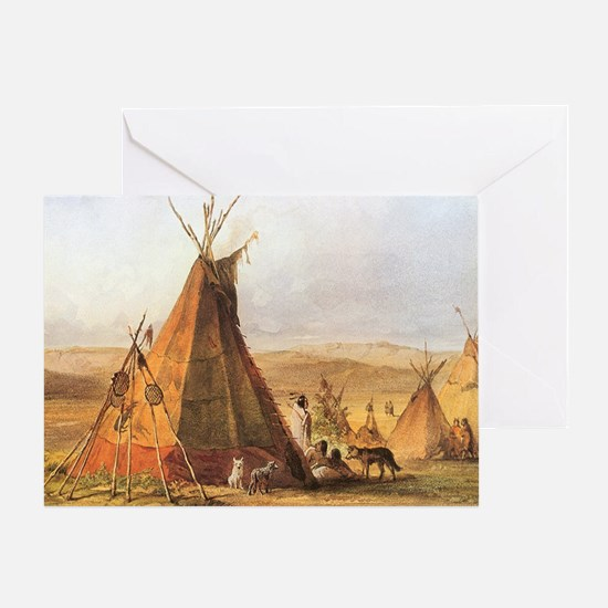 Teepees on the Plain Greeting Card