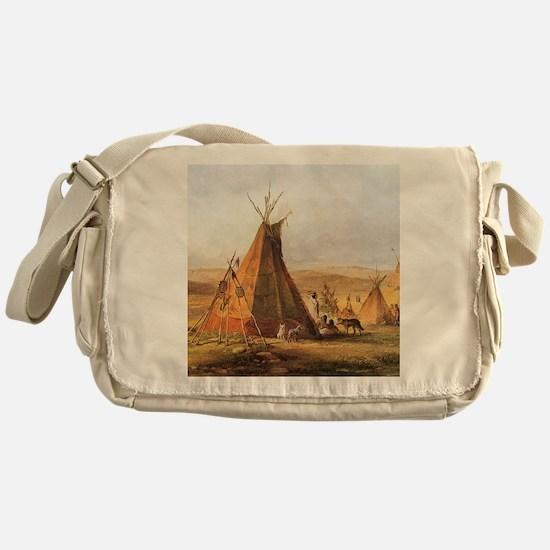 Teepees on the Plain Messenger Bag