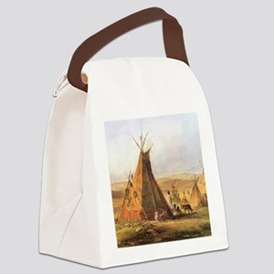 Teepees on the Plain Canvas Lunch Bag